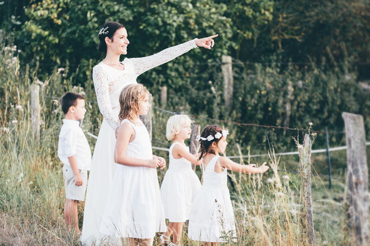 Photographe mariage dans les Yvelines mariée avec enfants