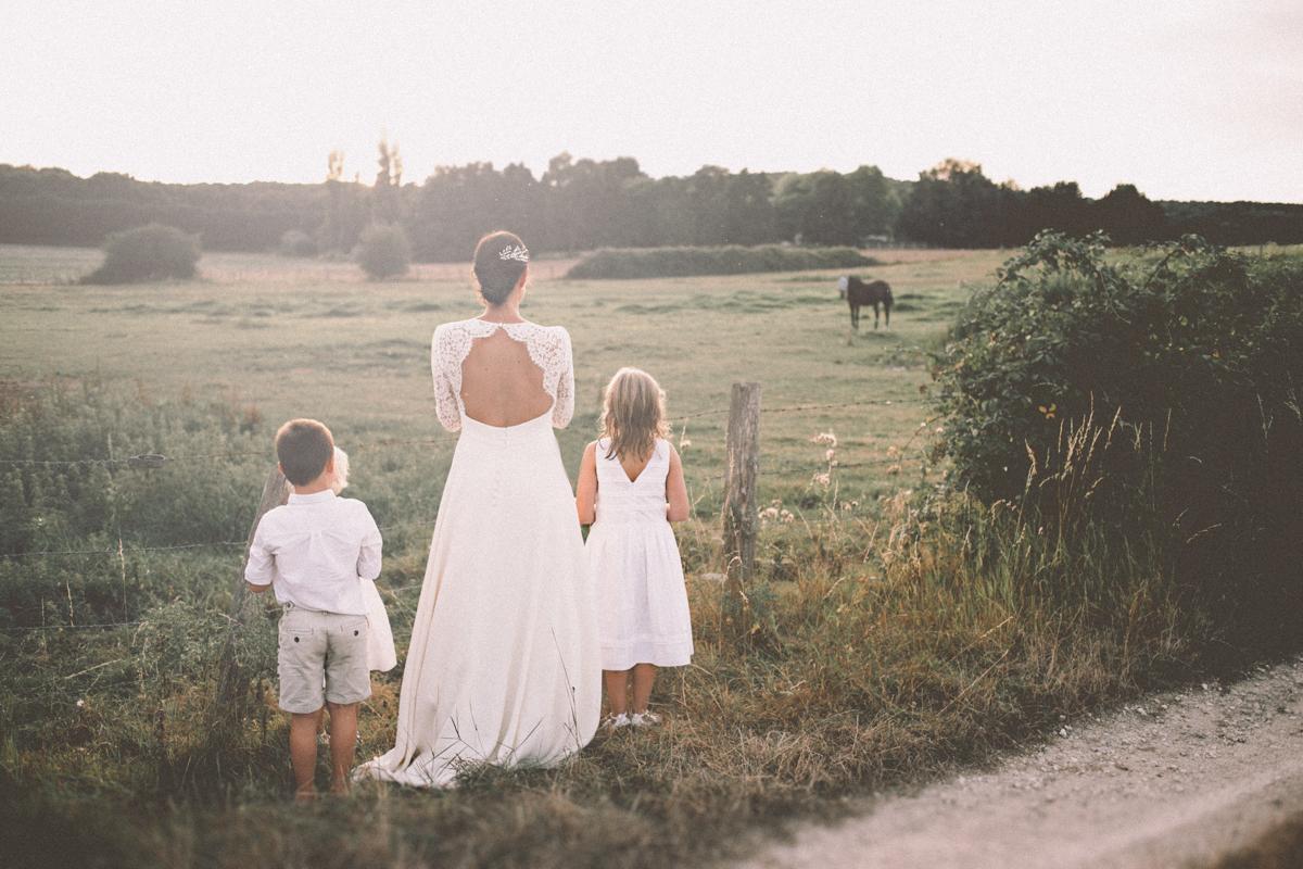 Photographe mariage dans les Yvelines mariés et enfants