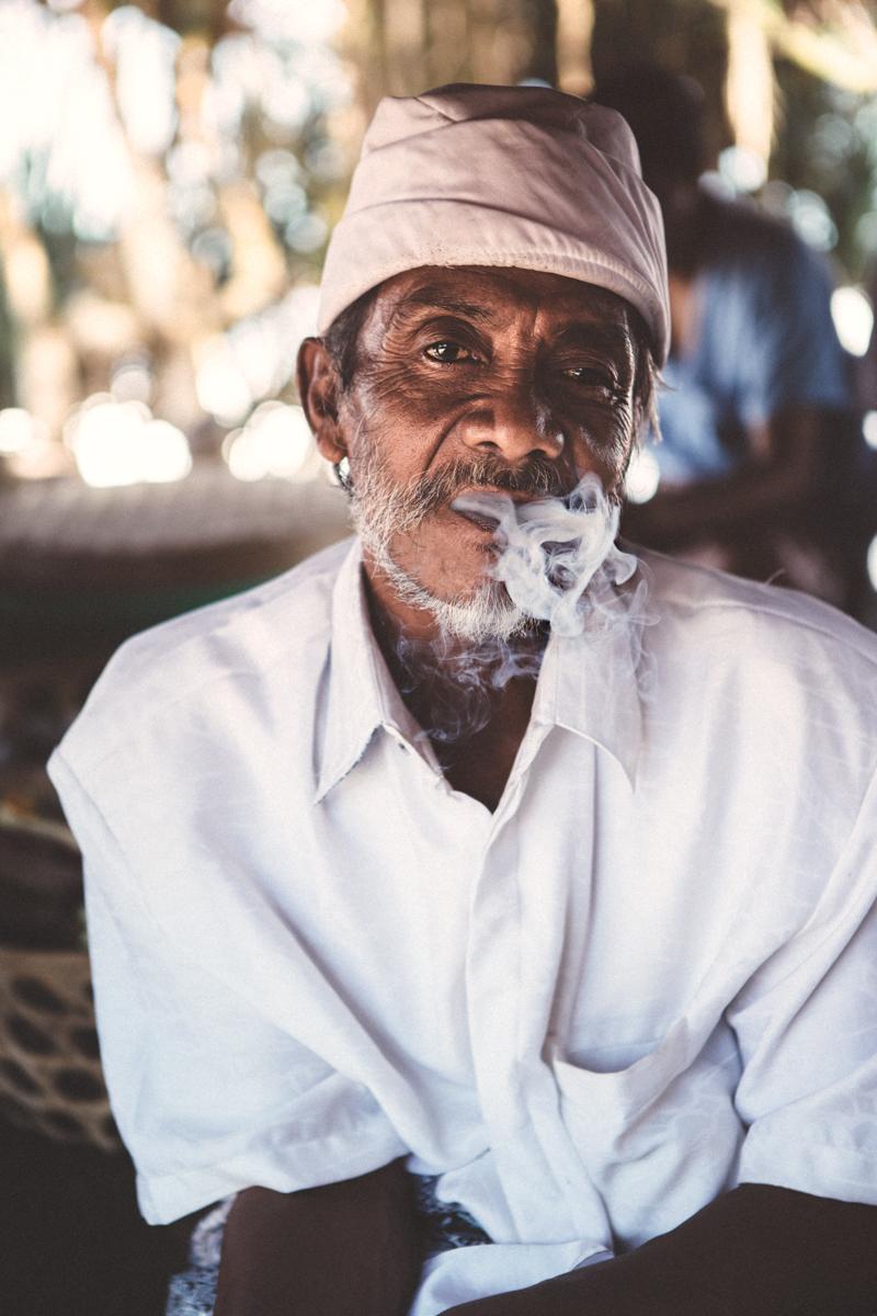 fumeur à bali