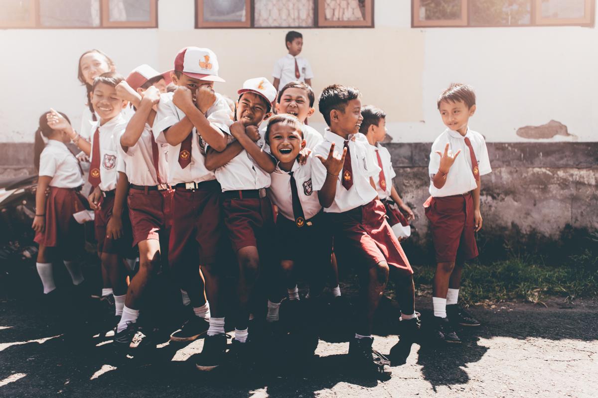sourires d'enfants à bali