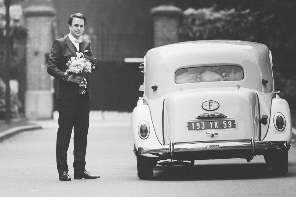 marié allant à la mairie de lambersart