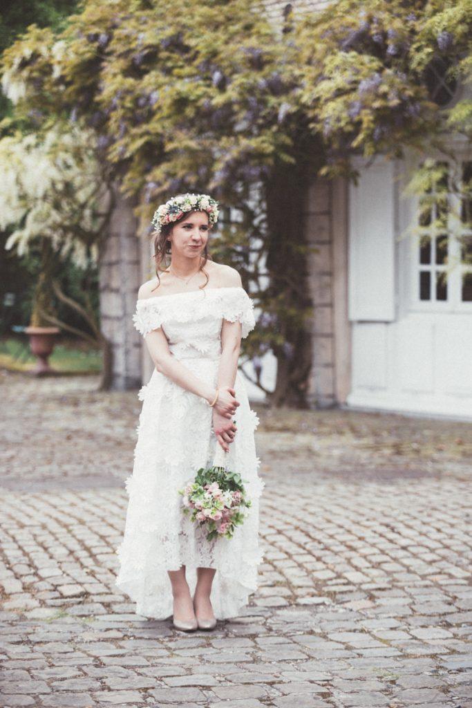 mariée bohème au chateau du vert bois