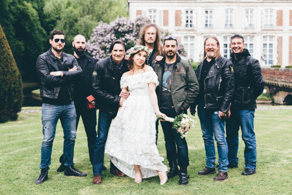 mariée et invités au chateau du vert bois