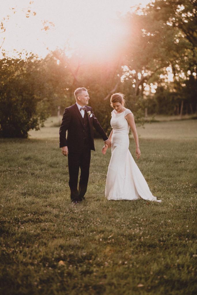 Photographe mariage Oise sunset