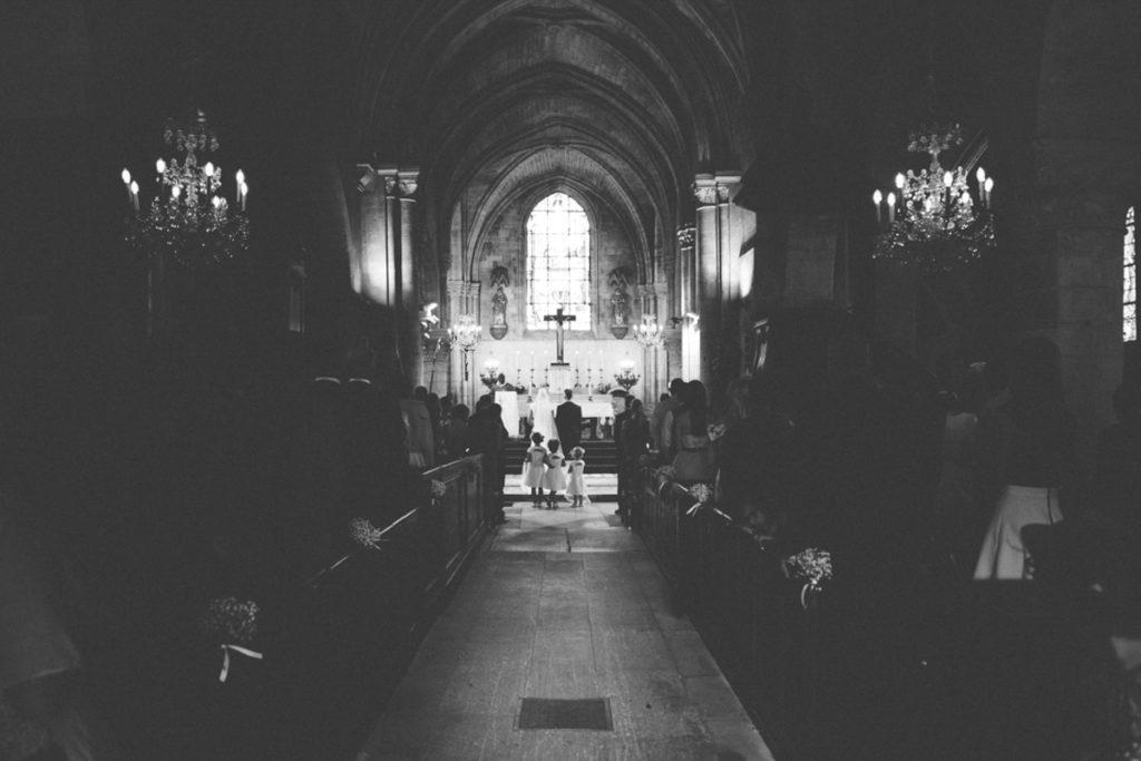 Eglise Saint Martin de Plailly mariés dans l'eglise
