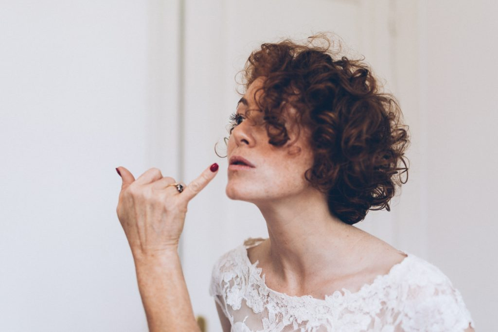 maquillage de la mariée au château de prémesques