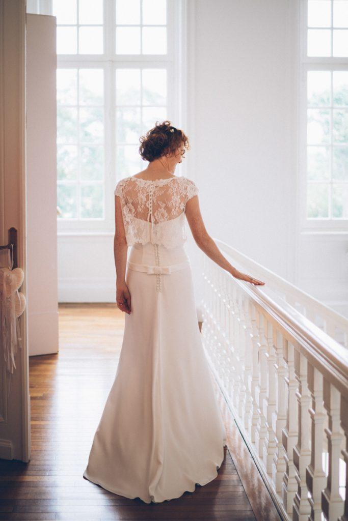 Photographe Mariage Lambersart mariée dans sa robe de mariage