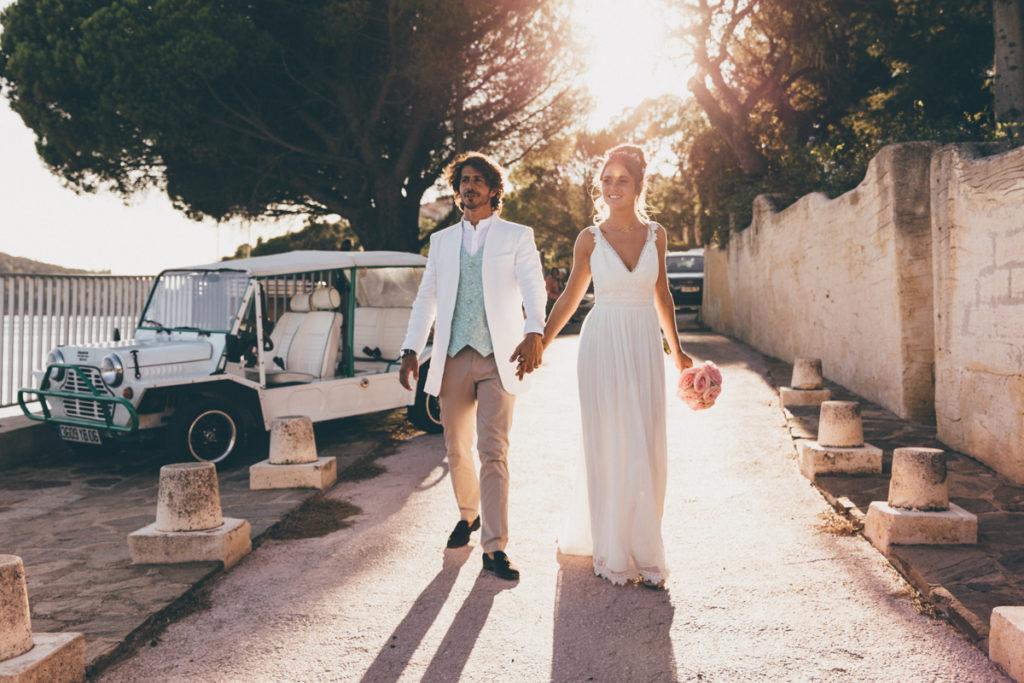 Tropicana arrivée des mariés