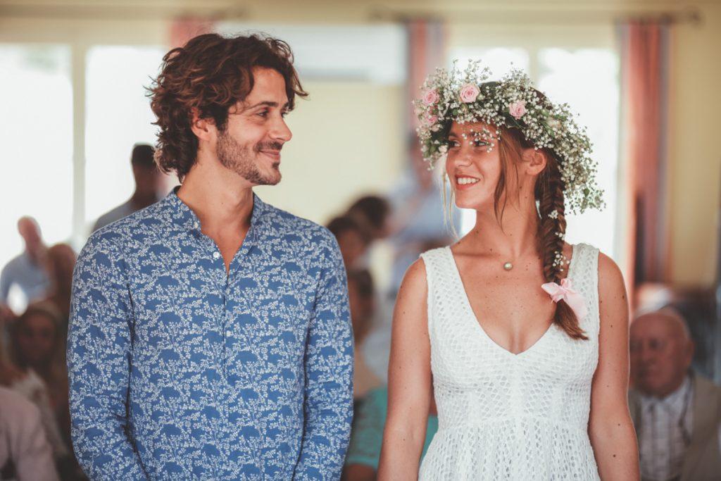 les mariés dans la mairie du Rayol