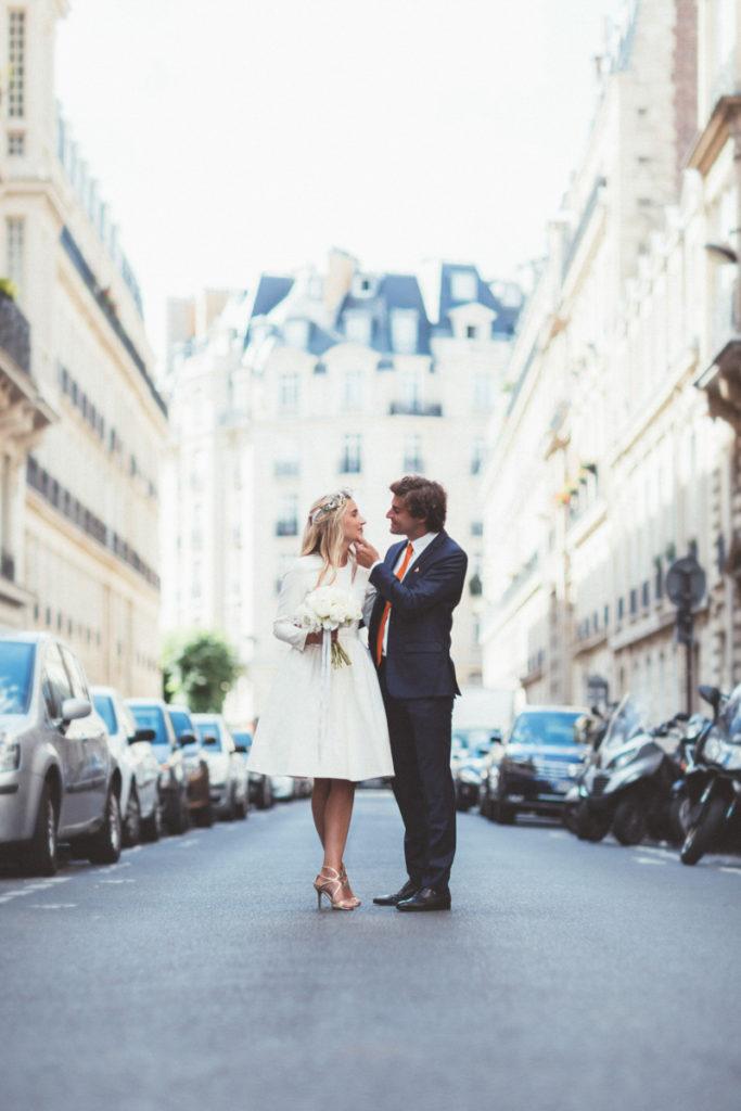 photo couple mariage parisien