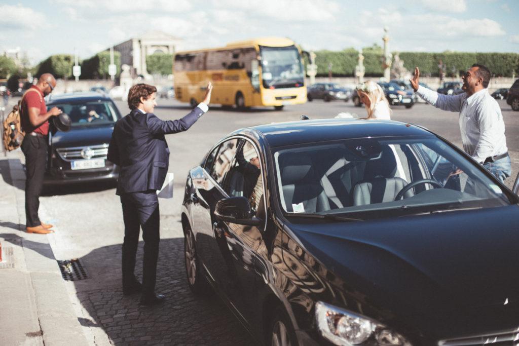 arrivée uber mariage concorde paris