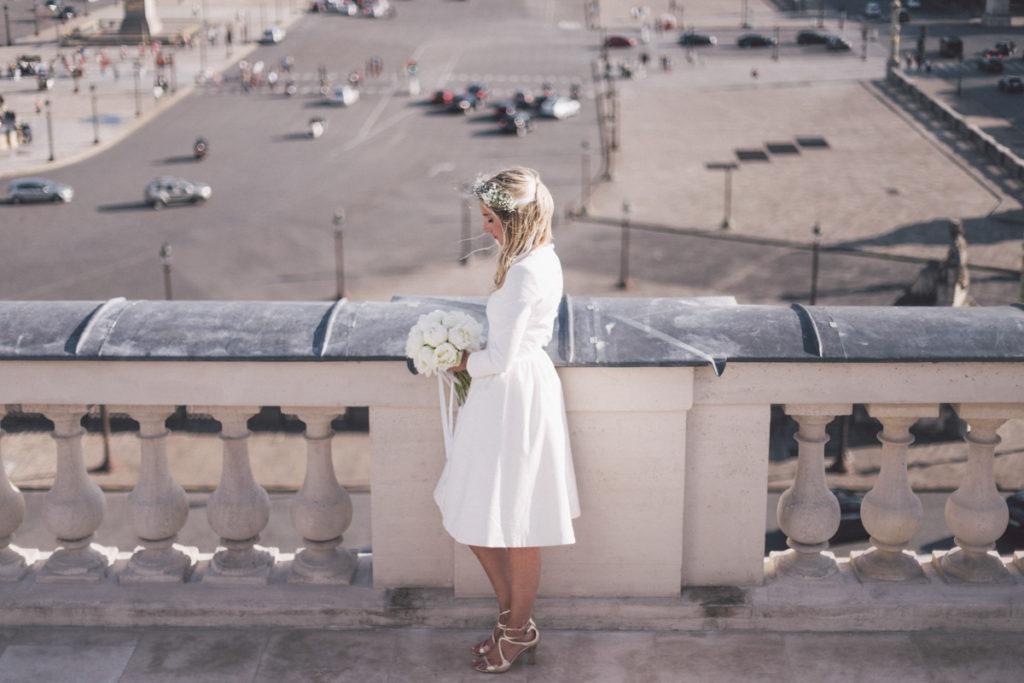 photographe mariage paris mariée sur la place de la concorde