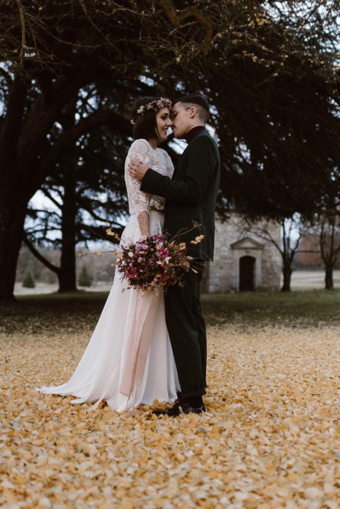 Joséphine Bono robe de mariée au château de chambly