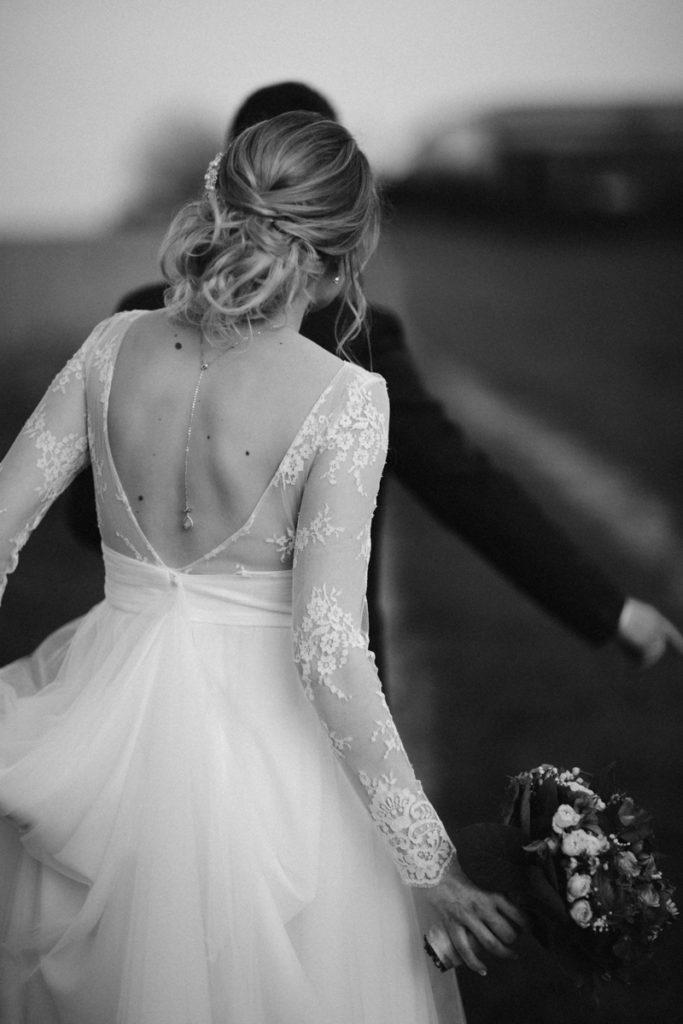photo robe marie laporte en noir et blanc