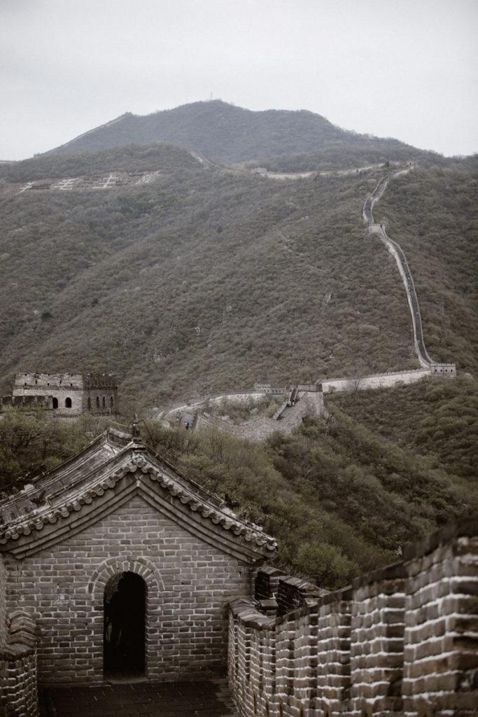 Grande Muraille de Chine vue depuis les hauteurs