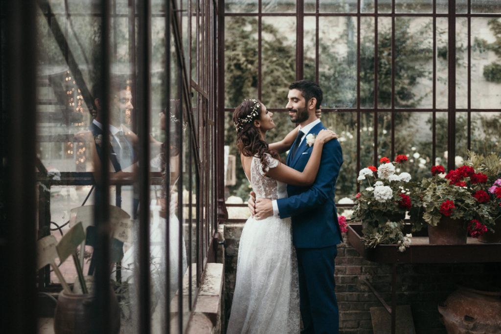 Photographe Mariage Domaine de Verderonne mariés sous la serre