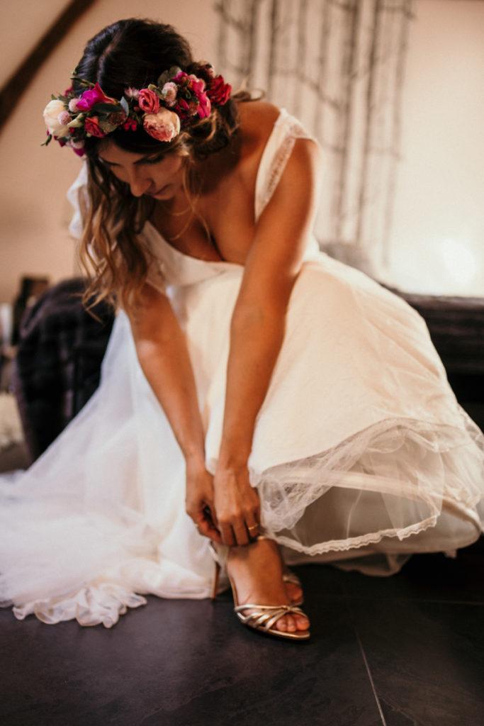 photo préparatif mariée ferme d'armenon