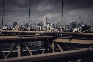 Vue du brooklyn bridge