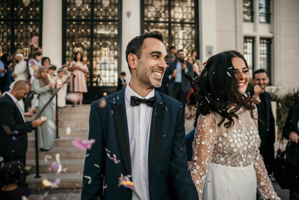 Les objectifs Tamron en mariage sortie mariage mairie courbevoie 24mm