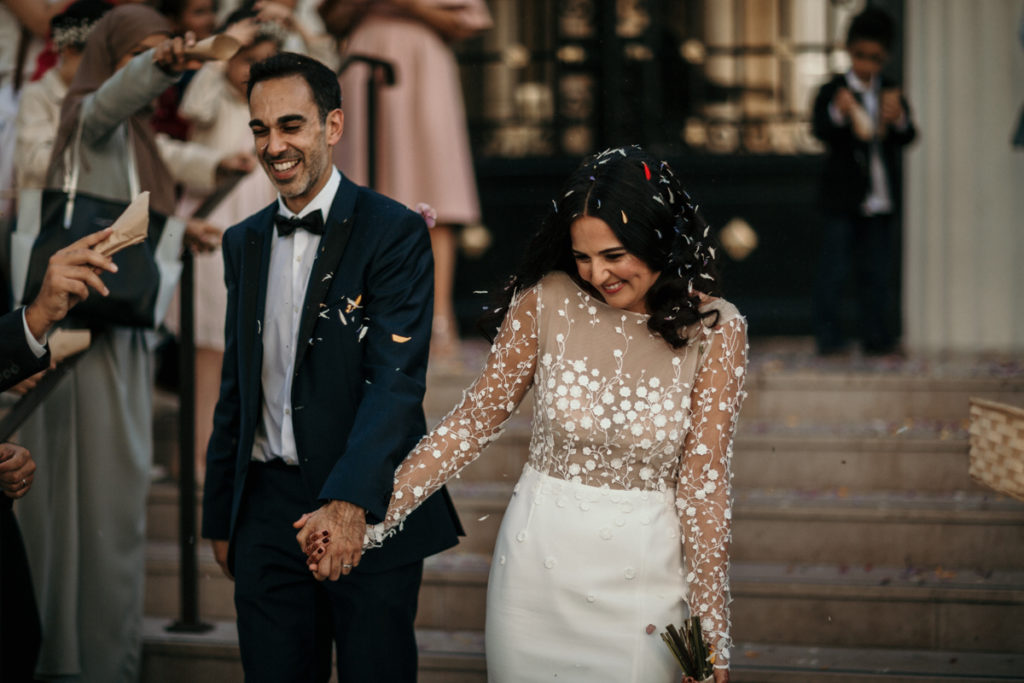 Les objectifs Tamron en mariage sortie mairie mariage courbevoie 70mm